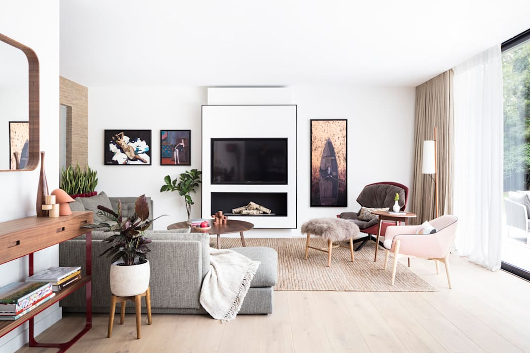 Modern New Home in Hampstead - lounge Black and Milk | Interior Design | London Living roomSofas & armchairs
