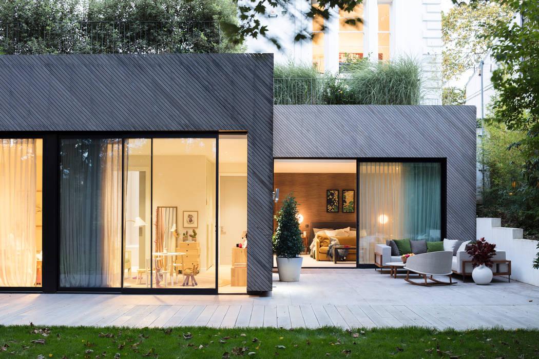 Modern New Home in Hampstead - patio Black and Milk | Interior Design | London Balconies, verandas & terraces Furniture