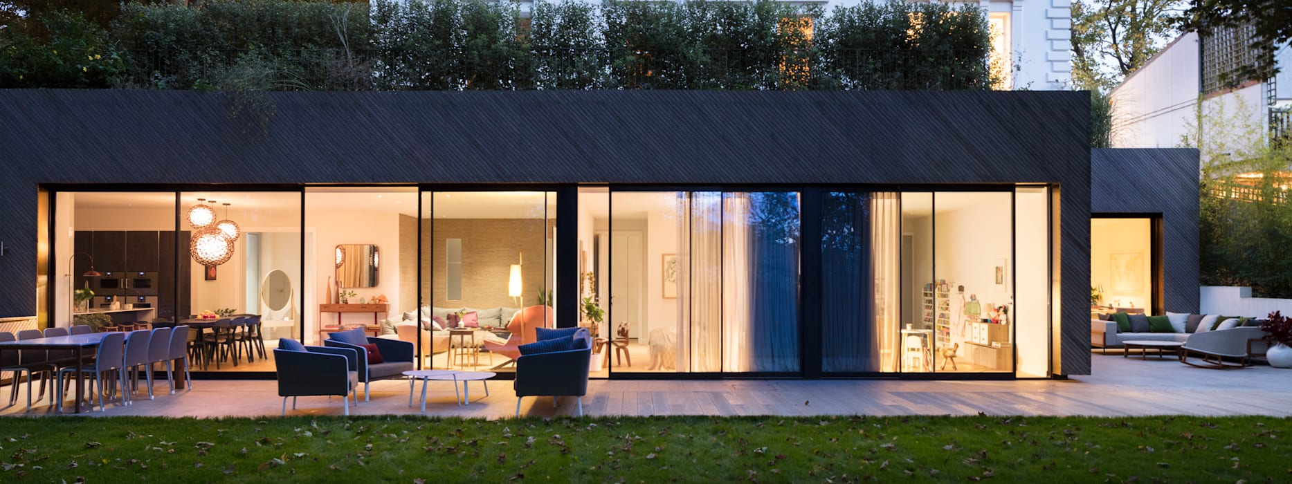 Modern New Home in Hampstead - outside Black and Milk | Interior Design | London Balconies, verandas & terraces Accessories & decoration