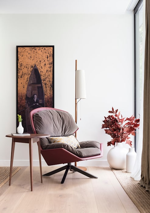 Modern New Home in Hampstead - Reading corner: modern  by Black and Milk | Interior Design | London, Modern