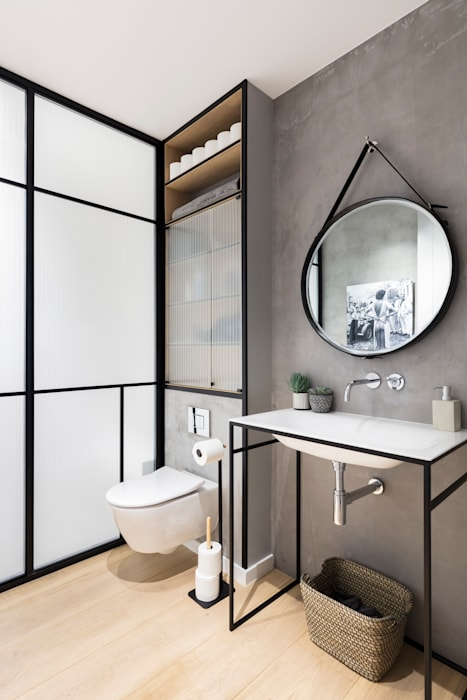 Modern New Home in Hampstead - guest bathroom Black and Milk | Interior Design | London BathroomSinks