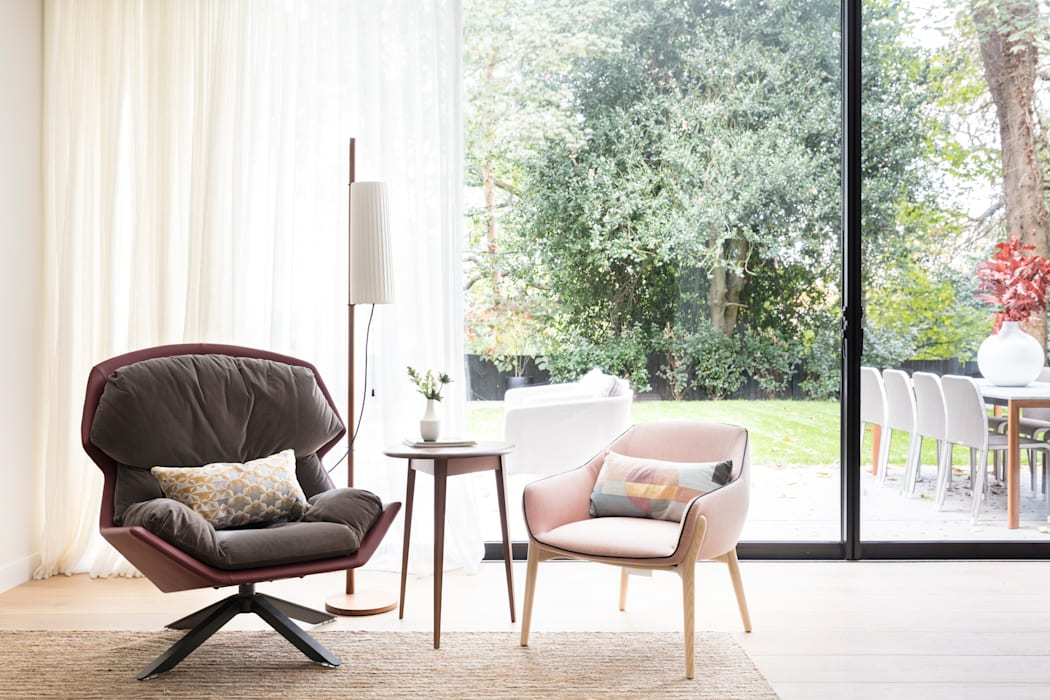 Modern New Home in Hampstead Black and Milk | Interior Design | London Living roomSofas & armchairs