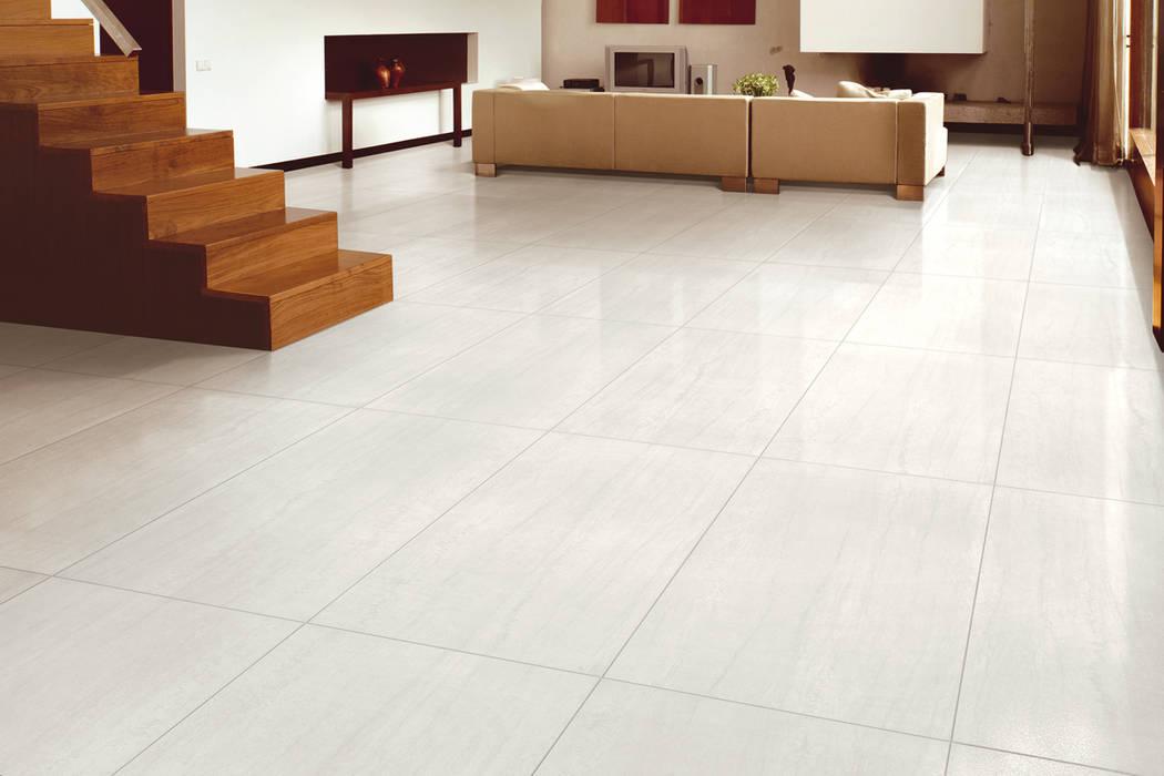 Gres porcellanato effetto pietra bianco - KA 7002: Soggiorno in stile in stile Moderno di ItalianGres
