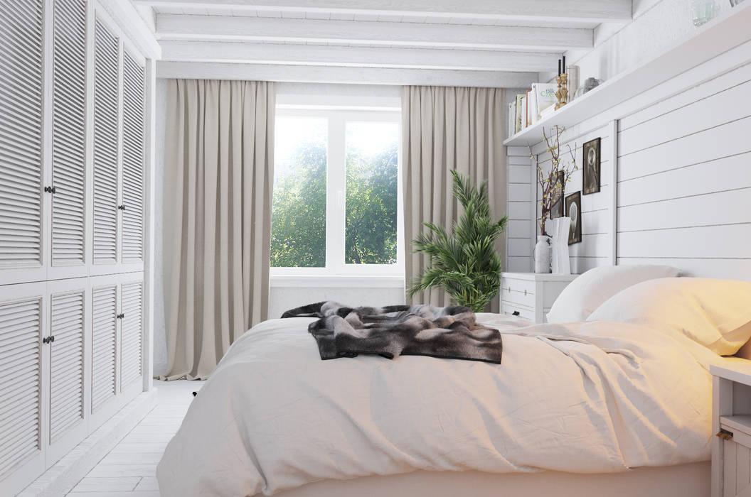 Дом для ПМЖ всего 67 кв.м.: Спальни в . Автор – Home in the Woods