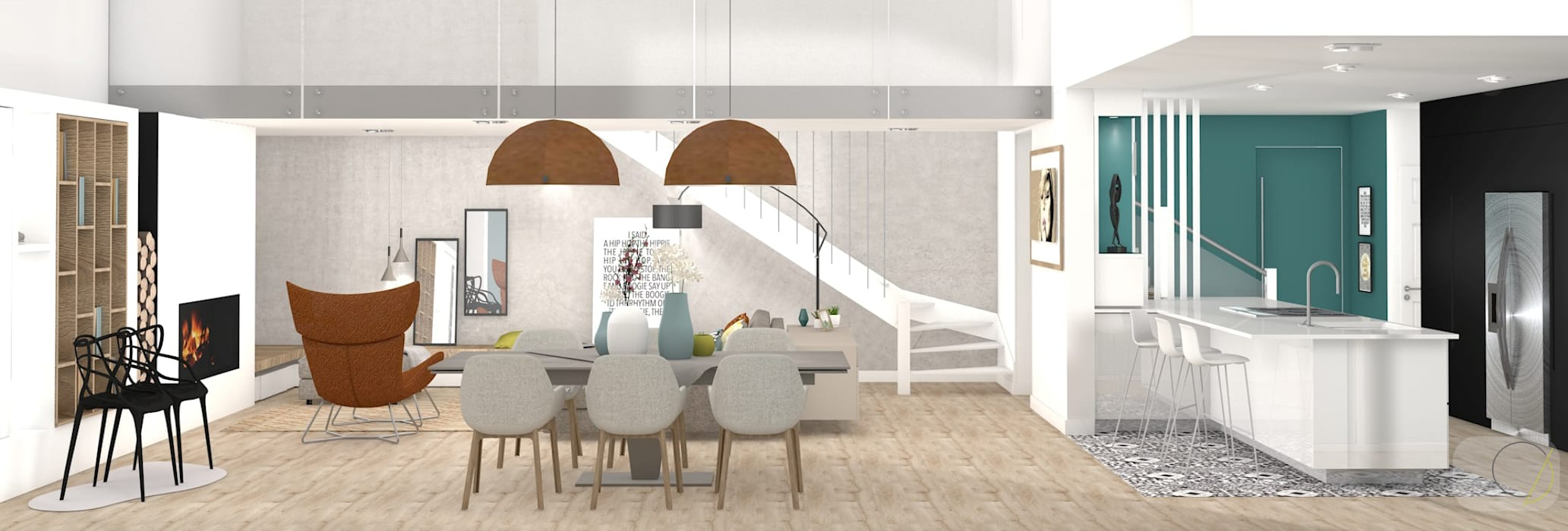 Camille BASSE, Architecte d'intérieur Modern Dining Room