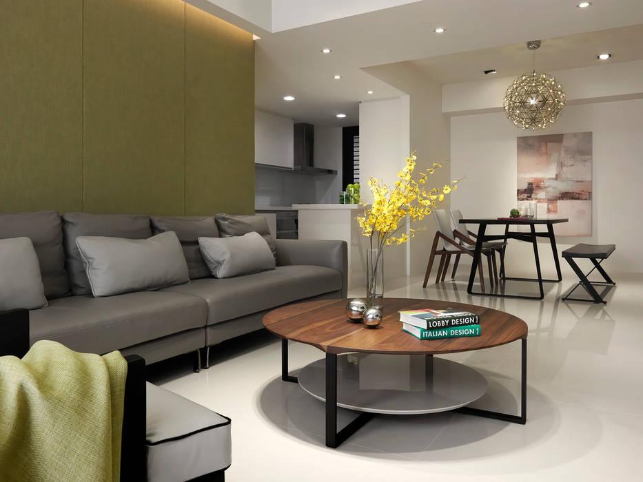 The CHEN 现代客厅設計點子、靈感 & 圖片 根據 夏沐森山設計整合 現代風