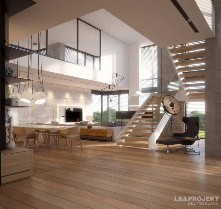 Ein Haus Für Das Perfekte Wohnglück!: Moderne Wohnzimmer Von LKu0026Projekt GmbH