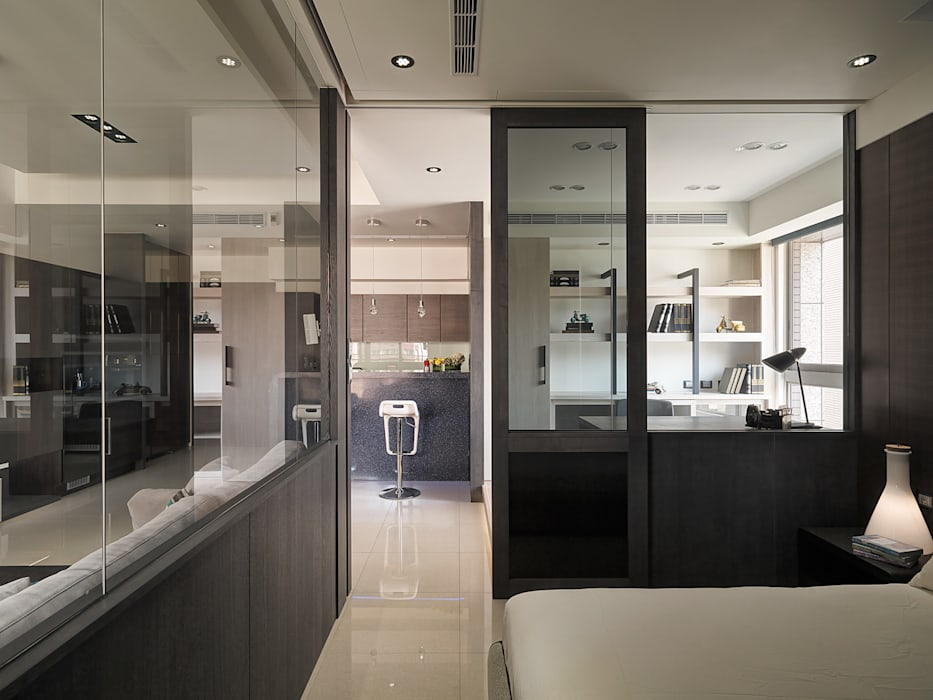 Chambre de style  par 陶璽空間設計, Minimaliste
