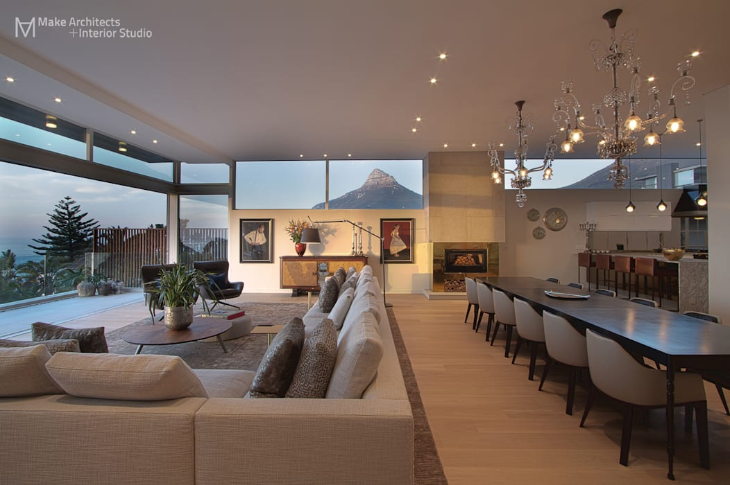 Salas de estilo moderno de Make Architects + Interior Studio Moderno