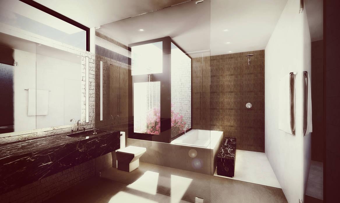 Estudio Volante Minimalist bathroom Stone White