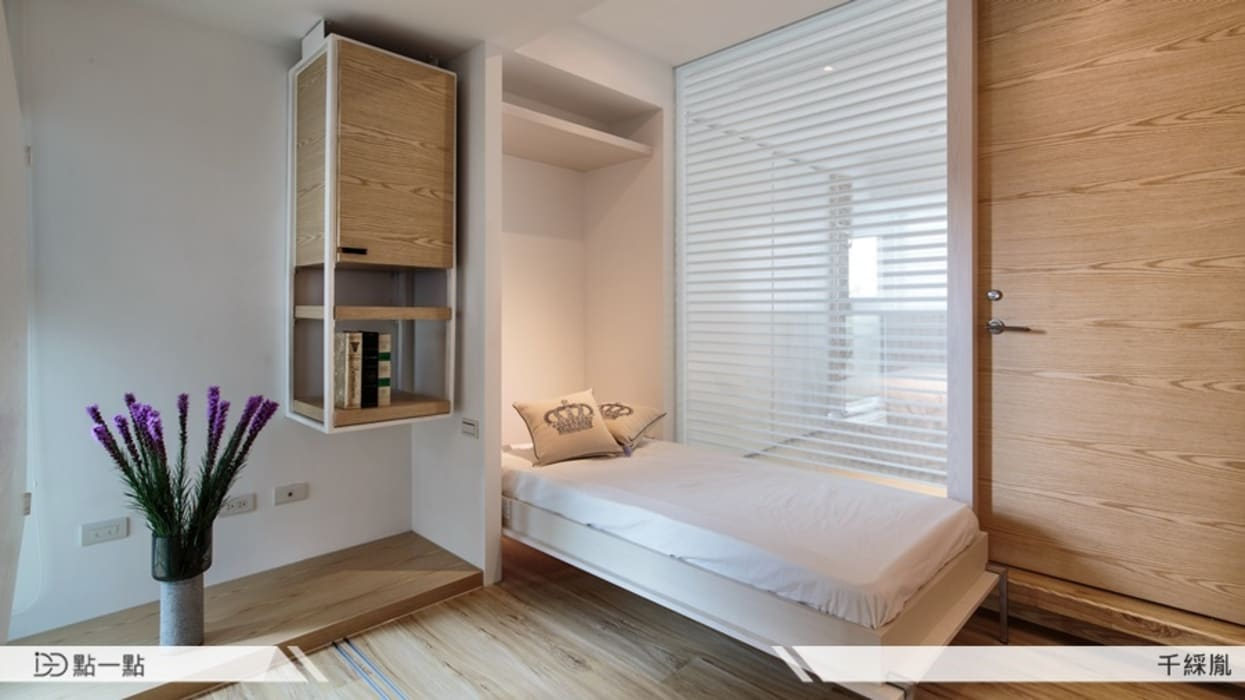 千綵胤空間設計:  臥室 by iDiD點一點設計