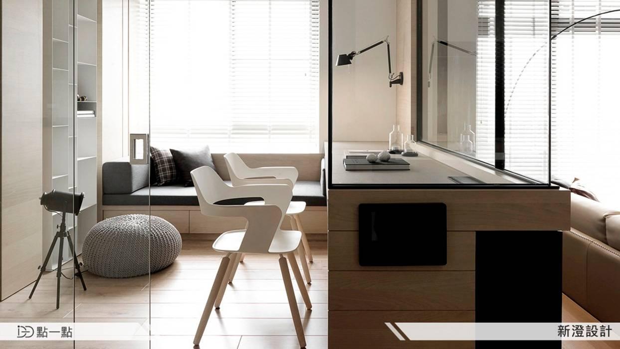 新澄室內設計:  書房/辦公室 by iDiD點一點設計