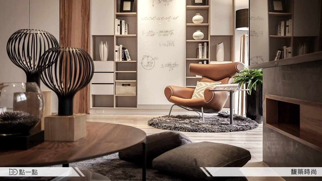 馥築時尚設計:  客廳 by iDiD點一點設計