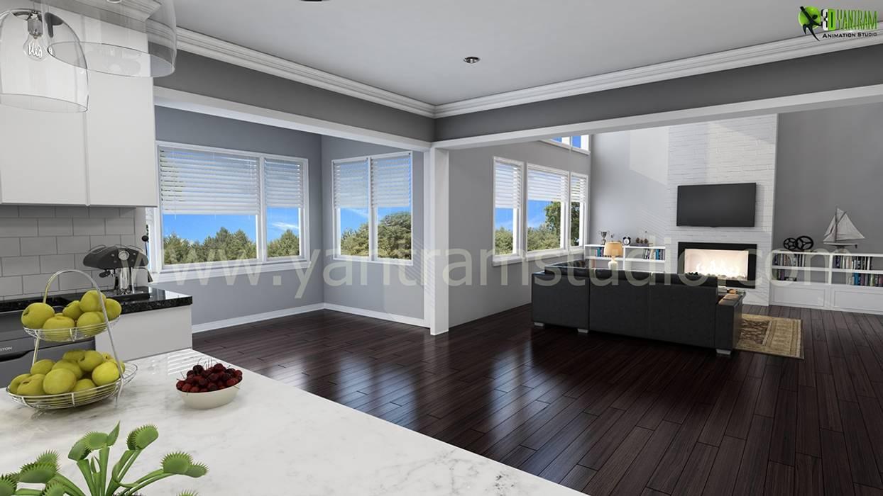 diseño clásico de sala de estar Diseo De Interiores De La Sala De Estar De Yantram