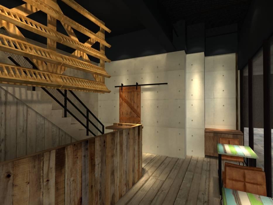 比利時連鎖餐飲.大直旗艦店.3D圖 根據 東之光室內裝修設計有限公司 工業風