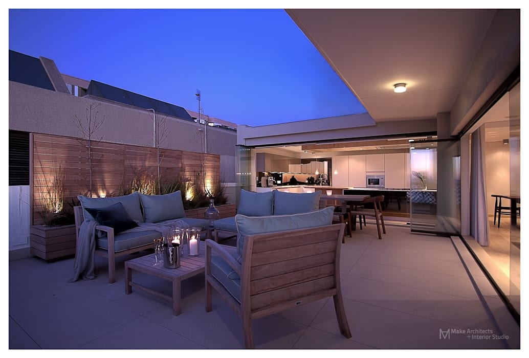 Modern balcony, veranda & terrace by Make Architects + Interior Studio Modern
