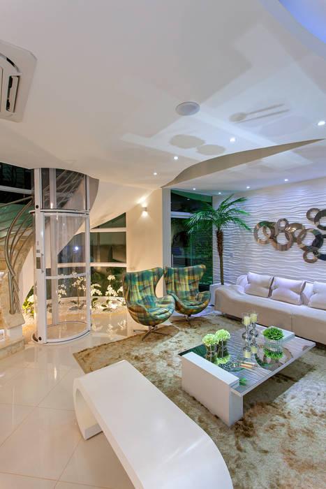 Salas / recibidores de estilo  por Arquiteto Aquiles Nícolas Kílaris,