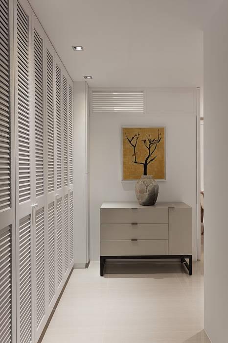 清白 大晴設計有限公司 經典風格的走廊,走廊和樓梯
