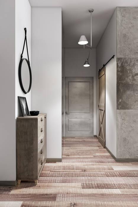 дизайн маленькой квартиры в стиле Loft коридор и прихожая в автор