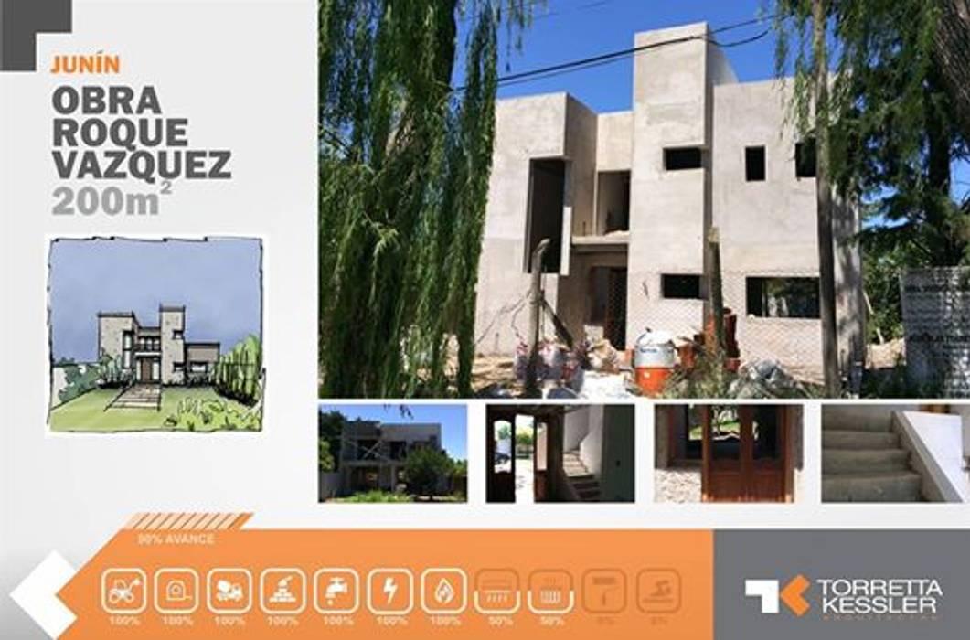 Casa urbana Casas modernas: Ideas, imágenes y decoración de TORRETTA KESSLER Arquitectos Moderno Ladrillos