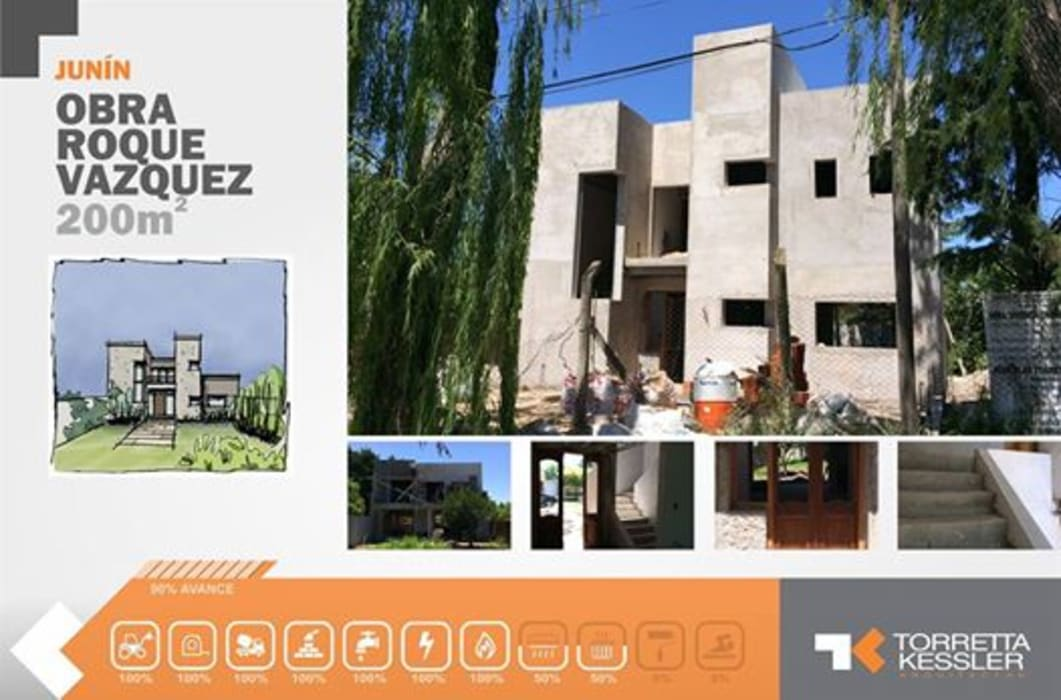 Casa urbana : Casas de estilo  por TORRETTA KESSLER Arquitectos