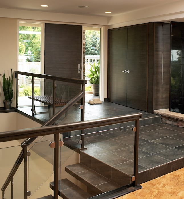 Benchscape Modern Corridor, Hallway and Staircase by Lex Parker Design Consultants Ltd. Modern