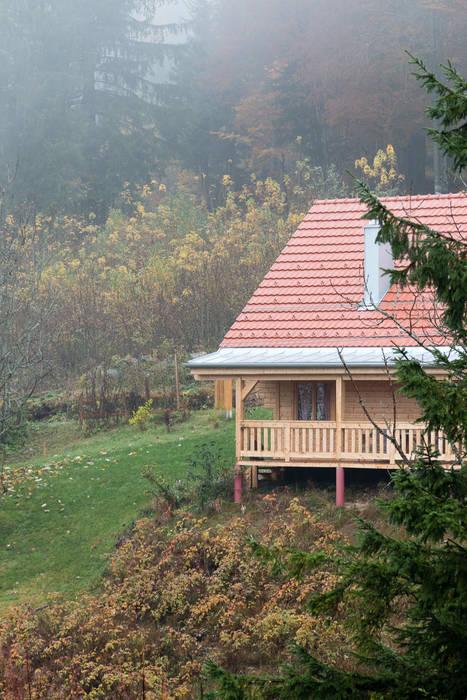 كوخ تنفيذ THULE Blockhaus GmbH - Ihr Fertigbausatz für ein Holzhaus, إسكندينافي خشب Wood effect