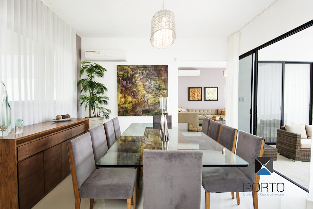 Eclectic style dining room by PORTO Arquitectura + Diseño de Interiores Eclectic