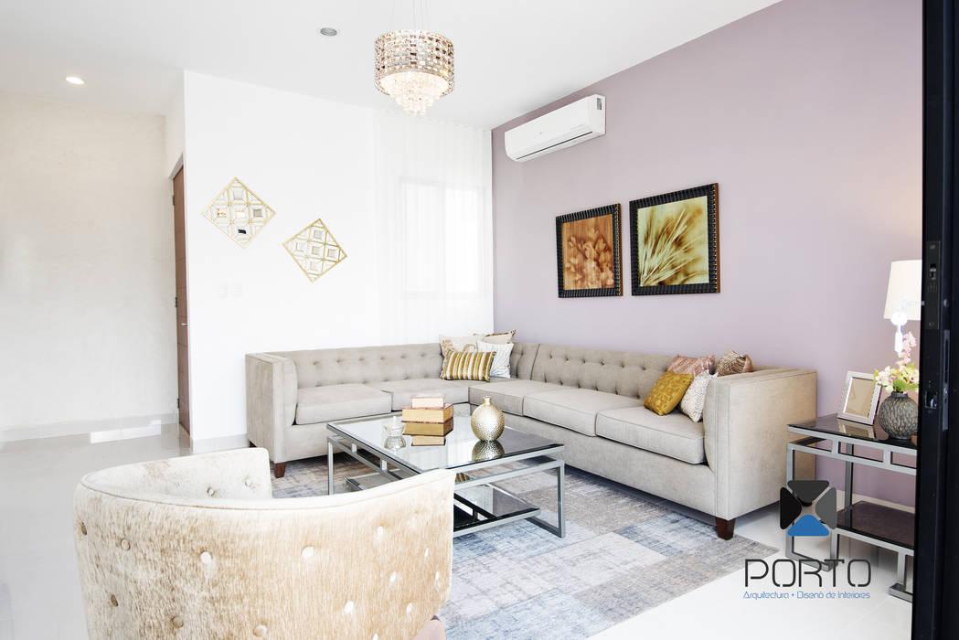 """""""PROYECTO LDZ26"""" Salones eclécticos de PORTO Arquitectura + Diseño de Interiores Ecléctico"""