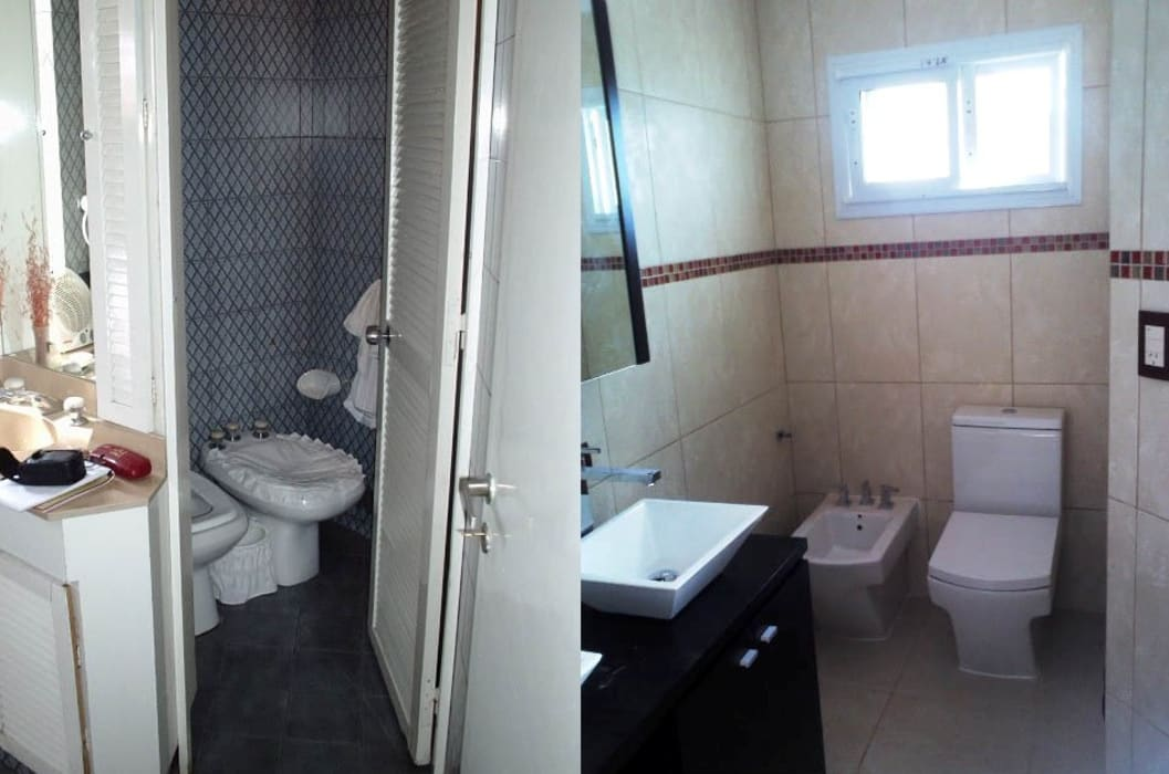 Remodelación de baño en casa I: Baños de estilo moderno por AyC Arquitectura