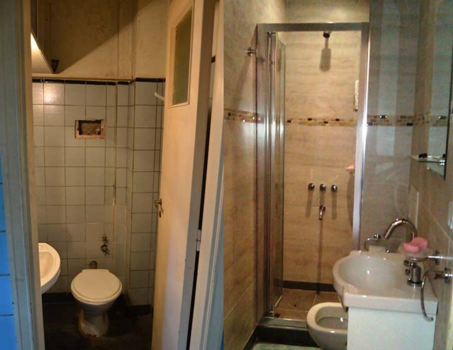 Remodelación de baño en departamento II: Baños de estilo  por AyC Arquitectura