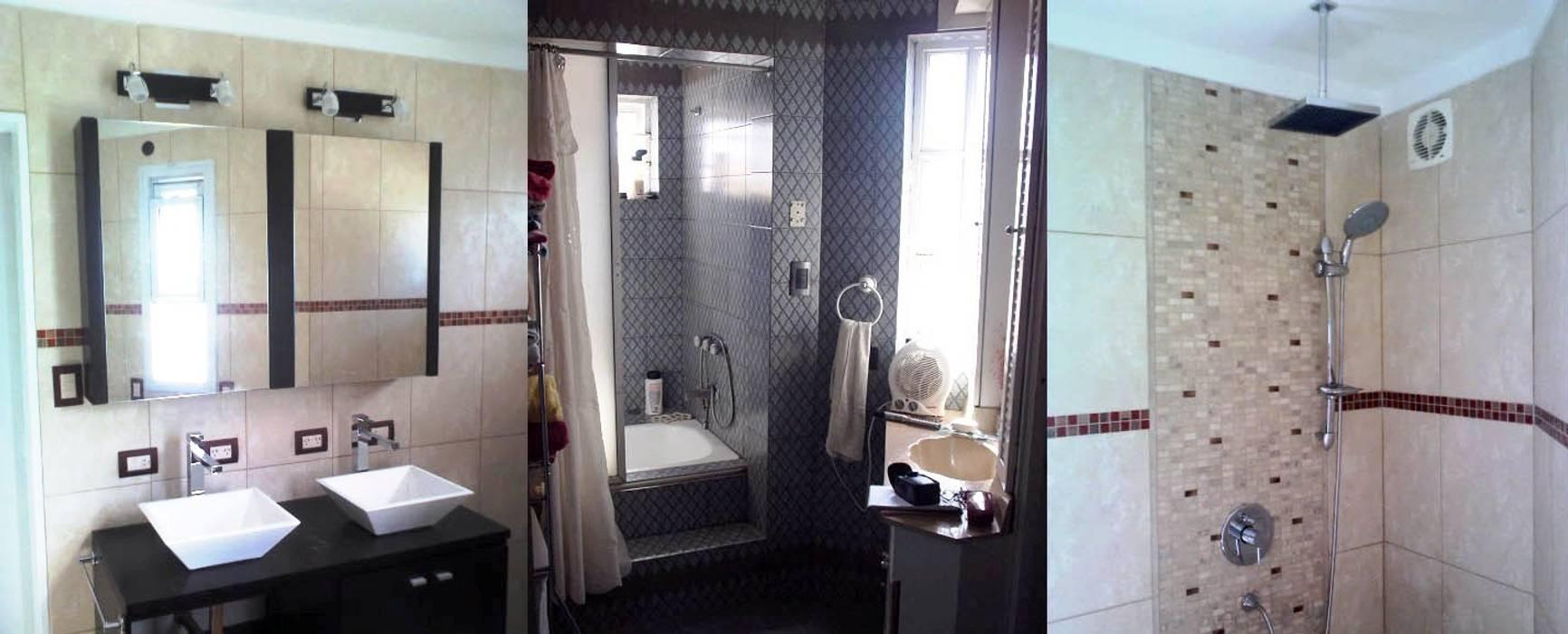 Remodelación de baño en casa I: Baños de estilo  por AyC Arquitectura