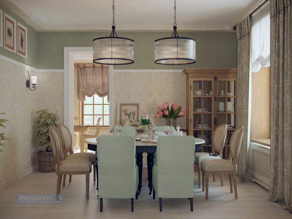 Дизайн-проект дома в стиле прованс площадью 300 кв.м: Столовые комнаты в . Автор – Студия интерьера Дениса Серова, Кантри