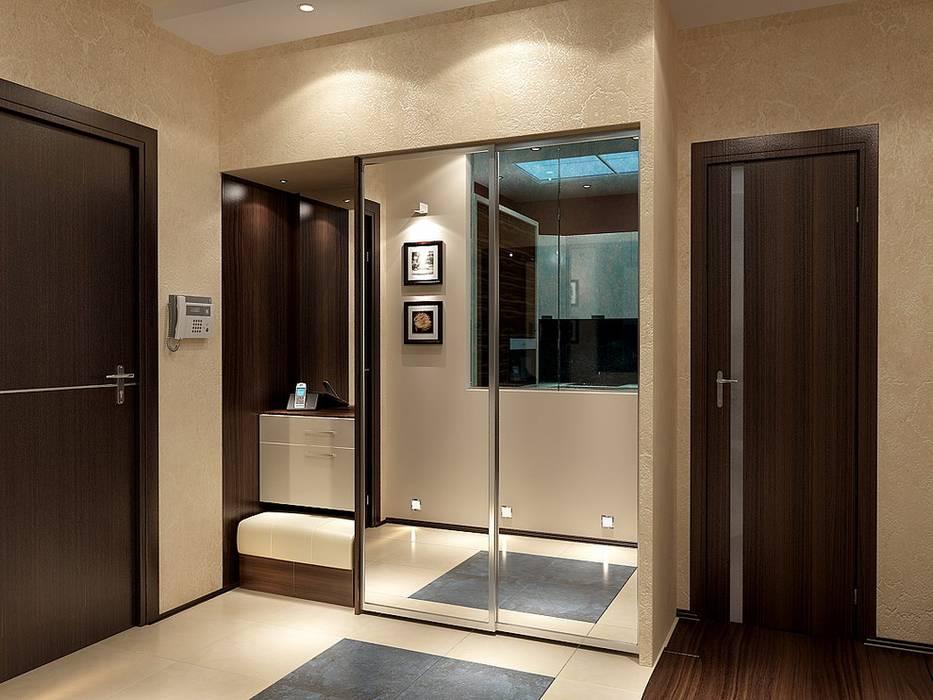Дизайн-проект квартиры в стиле минимализм: Коридор и прихожая в . Автор – Студия интерьера Дениса Серова