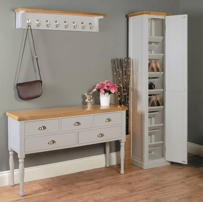 Tall Shoe Cabinet from our Chadwick Grey Range od Big Blu Furniture Nowoczesny Drewno O efekcie drewna