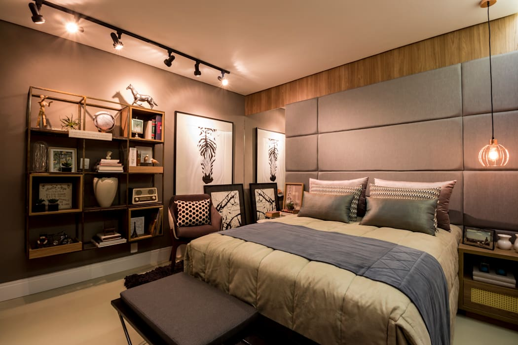Bedroom by AT arquitetos, Modern