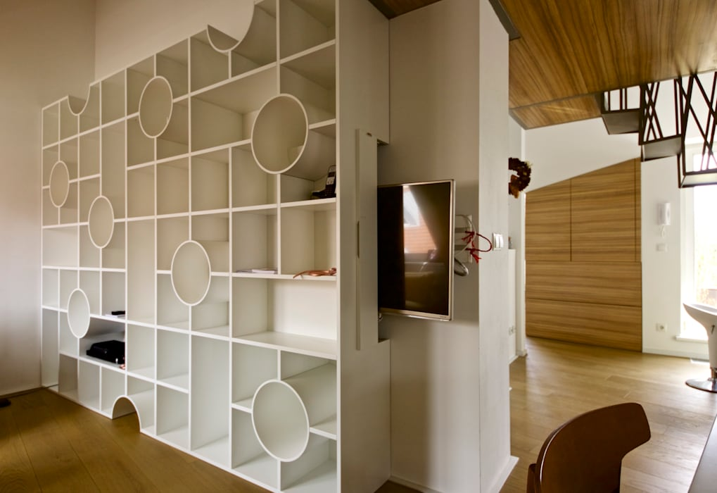 3rdskin architecture gmbh Living roomTV stands & cabinets