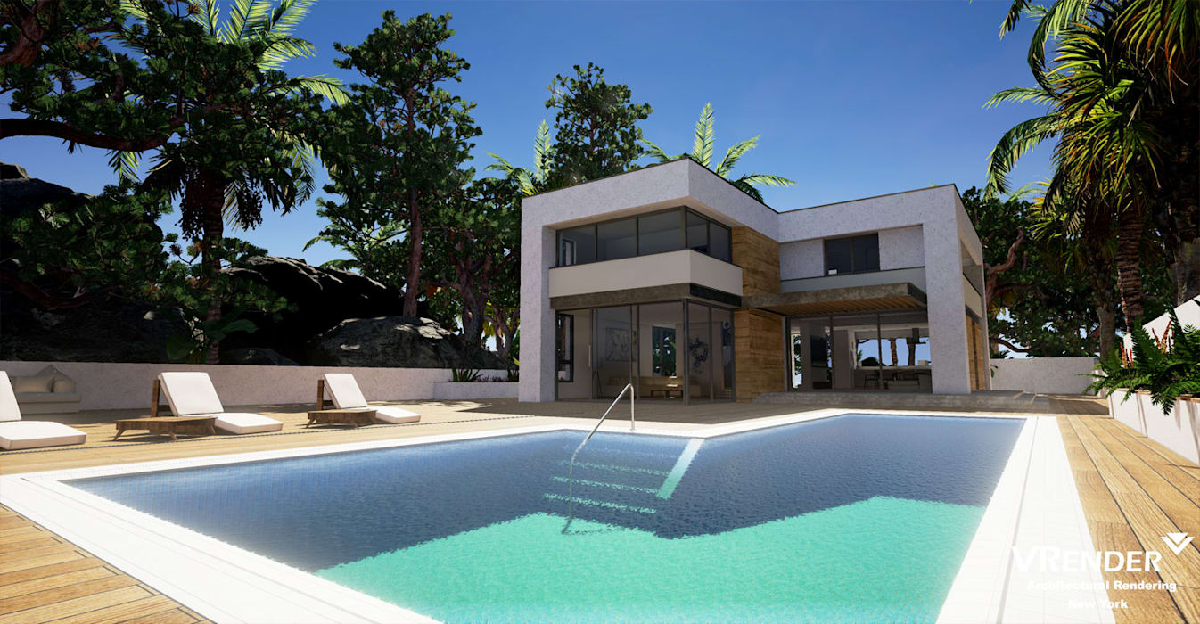 tropical Pool by Vrender.com