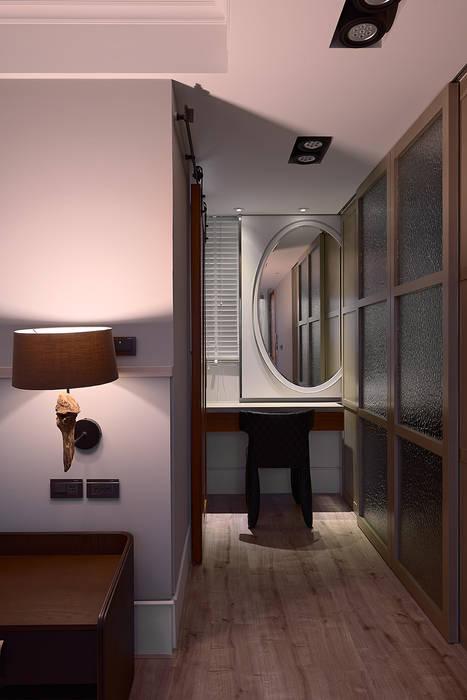 北歐摩登樓中樓輕混搭:  更衣室 by AIRS 艾兒斯國際室內裝修有限公司