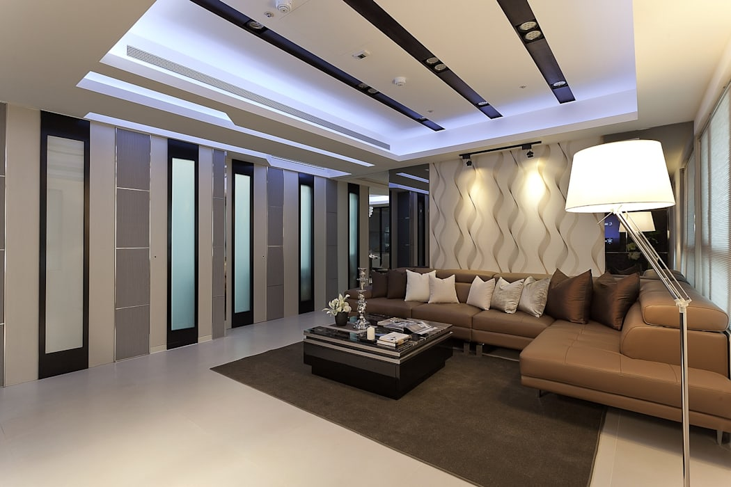 客廳-1 现代客厅設計點子、靈感 & 圖片 根據 Green Leaf Interior青葉室內設計 現代風