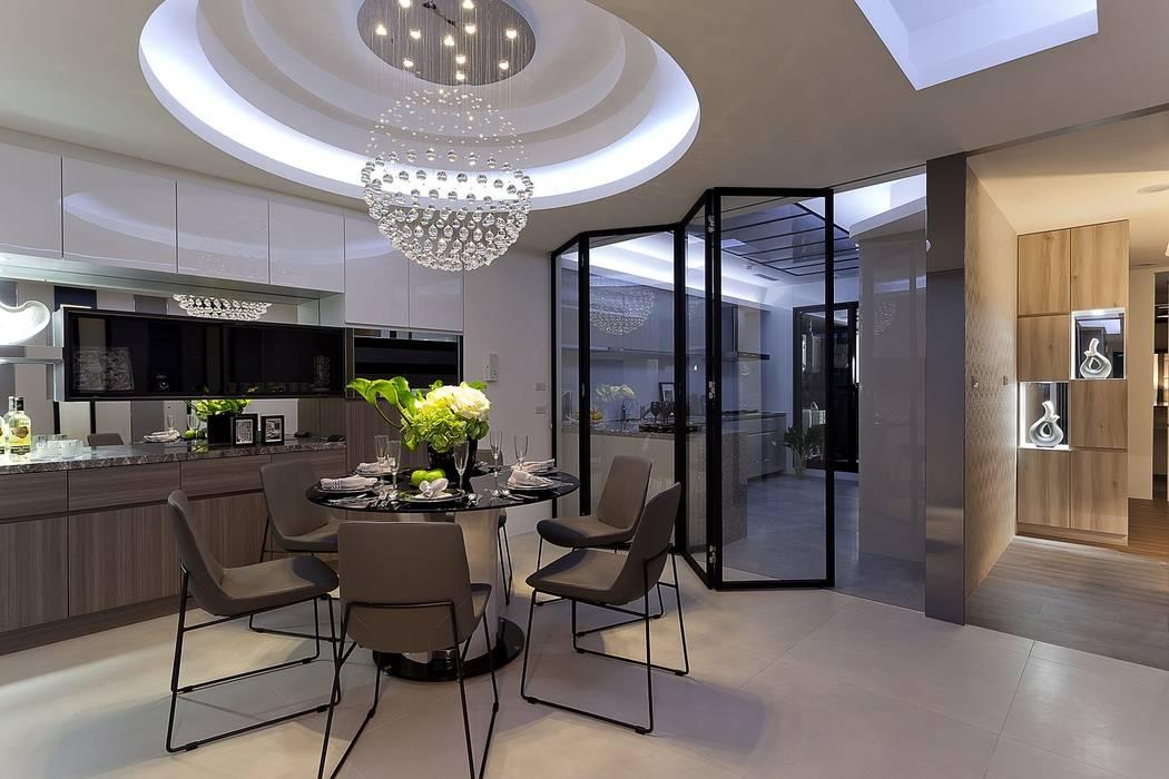 毛胚屋規劃案:  餐廳 by Green Leaf Interior青葉室內設計