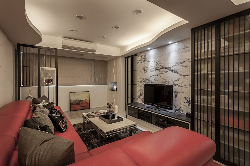 Modern living room by Green Leaf Interior青葉室內設計 Modern