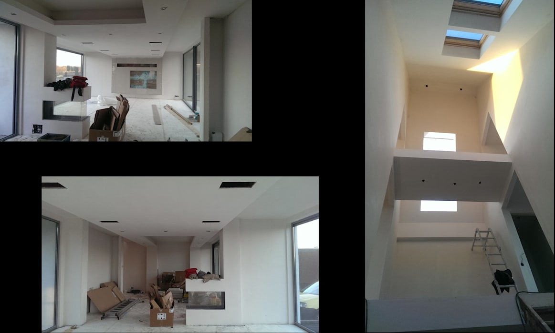 ENA architecten Salon moderne Blanc