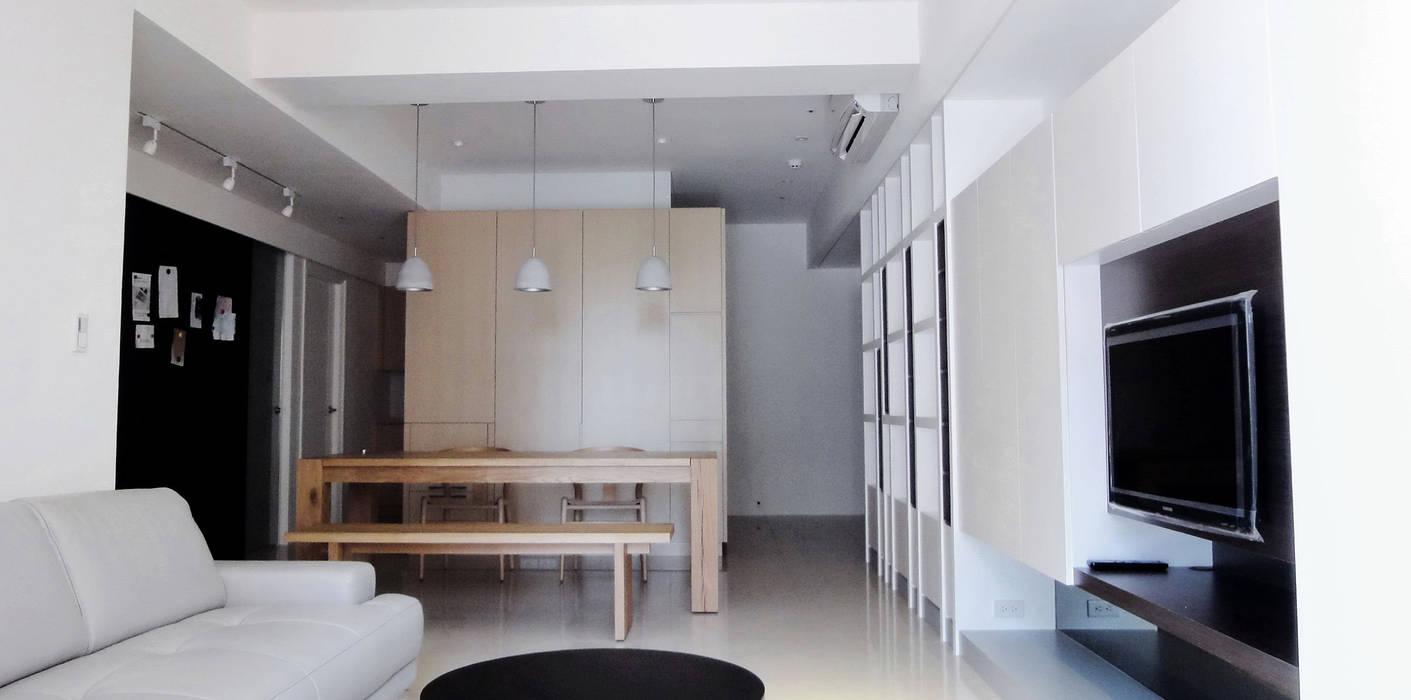 Salas de estar modernas por AIRS 艾兒斯國際室內裝修有限公司 Moderno