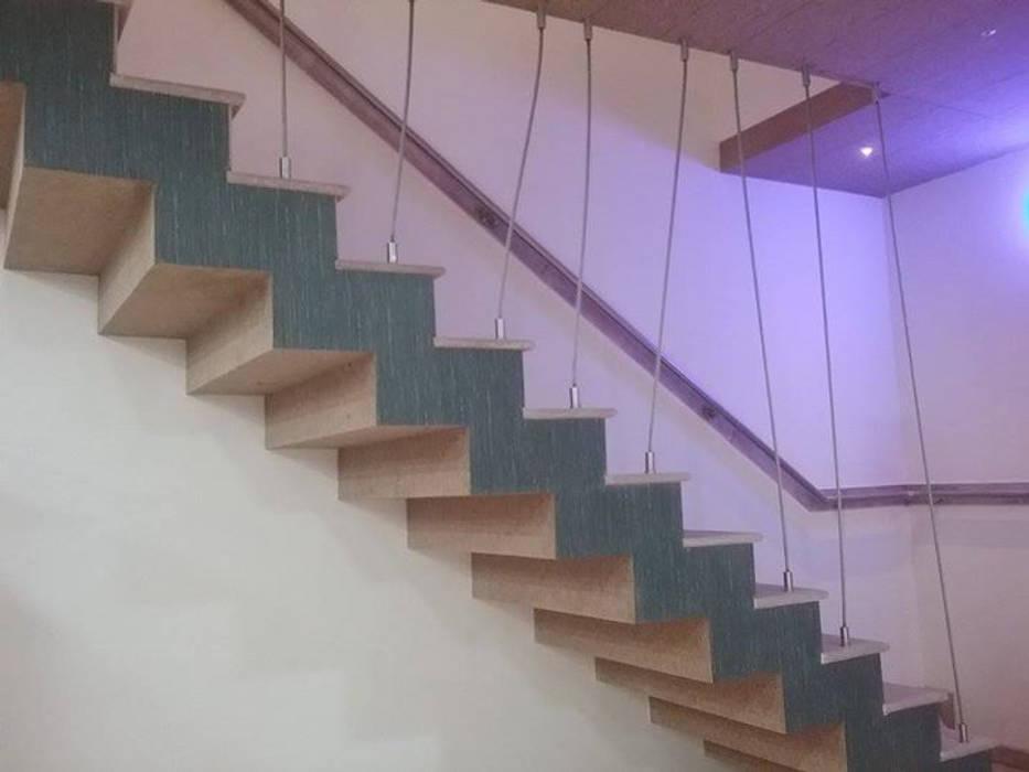 The Stairs Modern corridor, hallway & stairs by i'studio creative Modern Metal