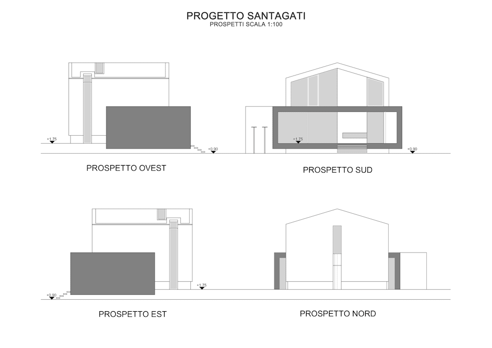 I prospetti case in stile di gaetano ternullo homify for Prospetti ville