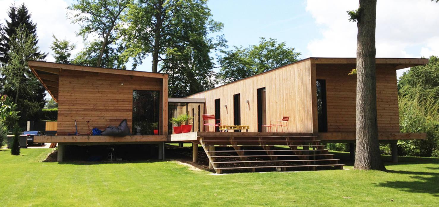 MAISON KAPLA: Maisons de style  par Hugues TOURNIER Architecte, Moderne