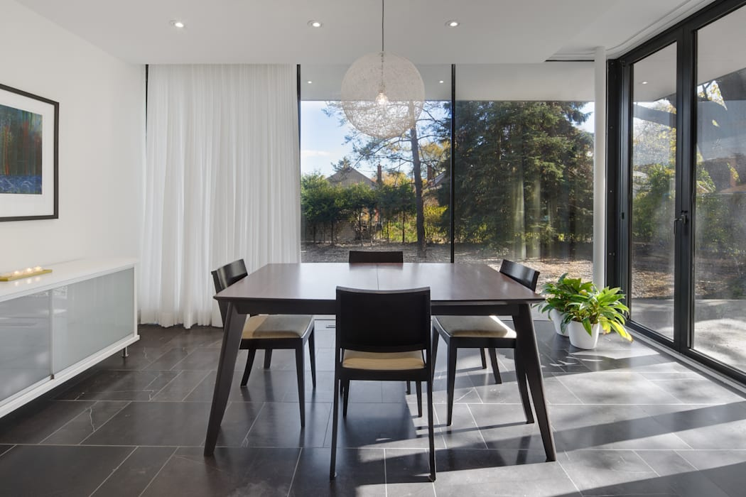 The Hambly House Modern dining room by dpai architecture inc Modern