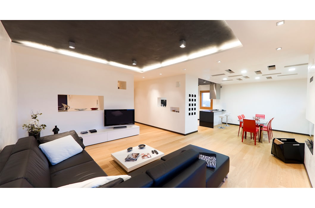 Living room by SANSON ARCHITETTI, Modern