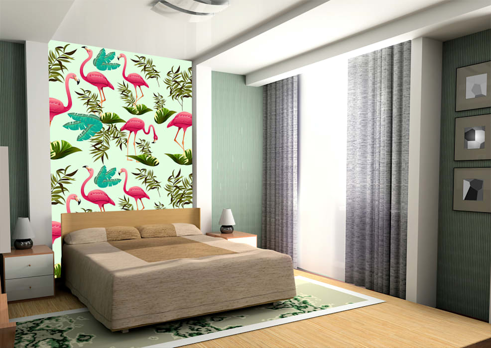 Animal Wallpapers Dormitorios de estilo moderno de Wallsauce.com Moderno